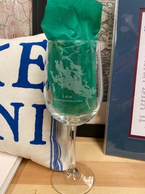 Lake Winnipesaukee Red Wine Glass
