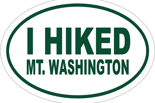 I Hiked Mt. Washington Decal