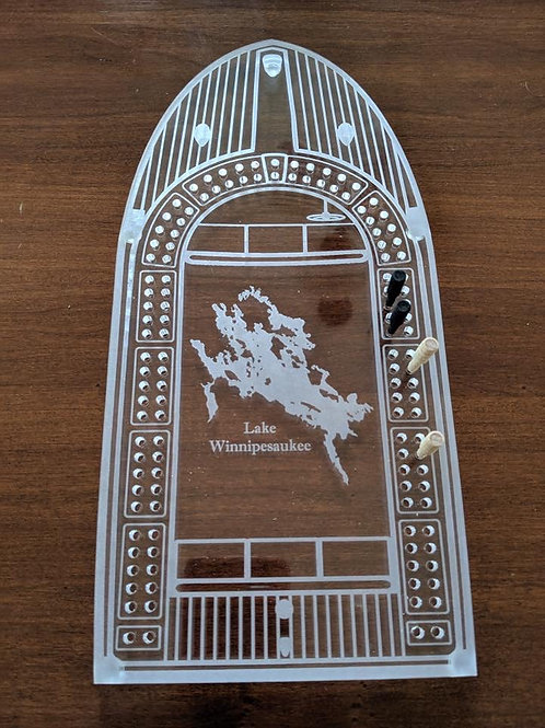 Acrylic Boat Cribbage Board