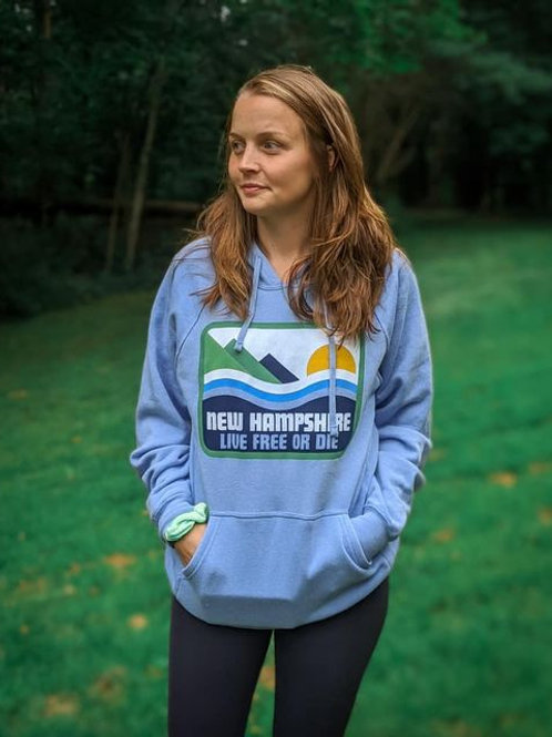Moose&Mountains Blue Sweatshirt