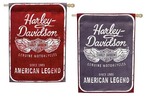 Harley Davidson 2 sided, 2 color Outdoor Flag