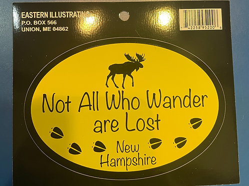 Not All Who Wonder Sticker