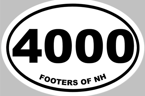 4000 Footers of NH Sticker
