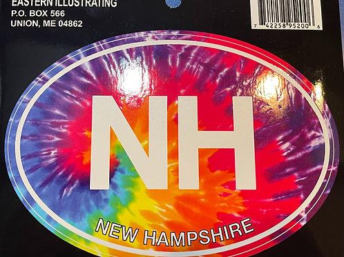 Tie-Dye NH Sticker