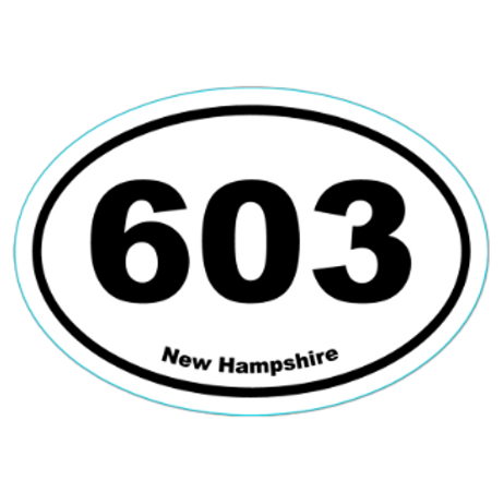 603 New Hampshire Sticker