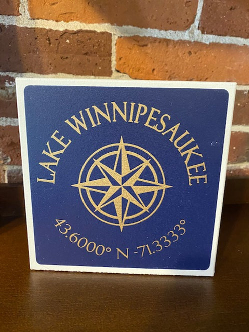Lake Winnipesaukee Coordinate Sign