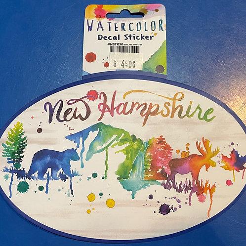 Watercolor NH Sticker