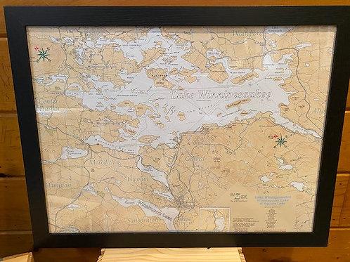 16 x 20 Bizer Framed Map