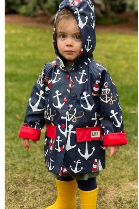 Nautical Toddler Rain Jacket