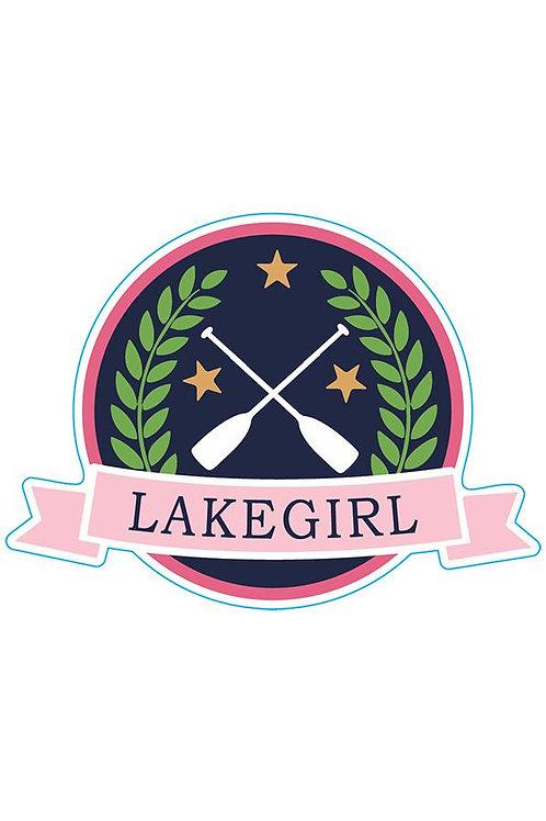 Lakegirl Lily Patch Sticker