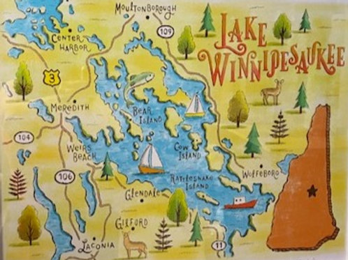 WinniOpoly Map Print