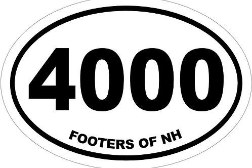 4000 Footers NH Decal