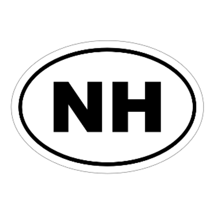 NH Oval Sticker