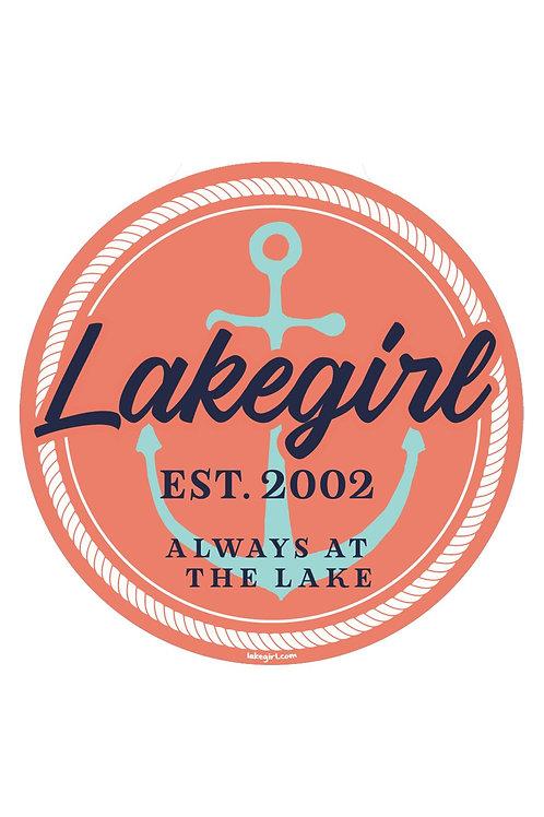 Lakegirl Dougan Anchor Sticker