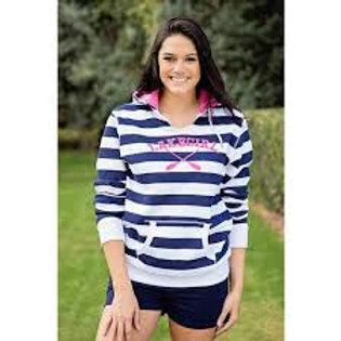 Lakegirl Lakeside Navy Stripe Hoodie