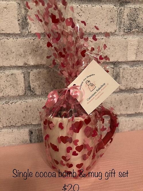 Single Mug and Hot Cocoa Bomb