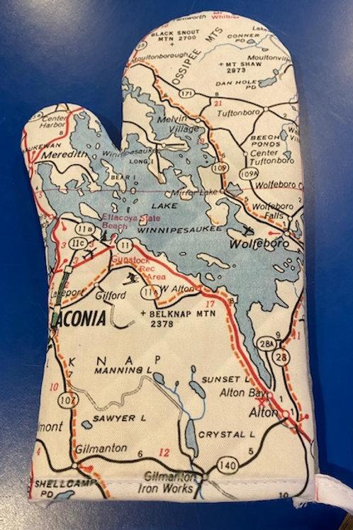 Lake Winnipesaukee Map Oven Mitt