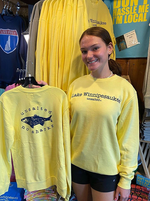 Unsalted No Sharks Yellow Crew