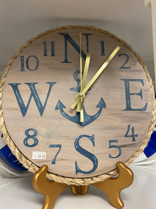 Compass Anchor Clock