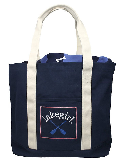 Lakegirl Navy Heavy duty Paddle Tote Bag