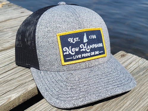 New Hampshire Live Free Snapback (Heather Grey)