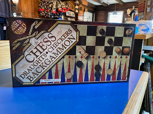 Three In One - Chess, Checkers, Backgammon
