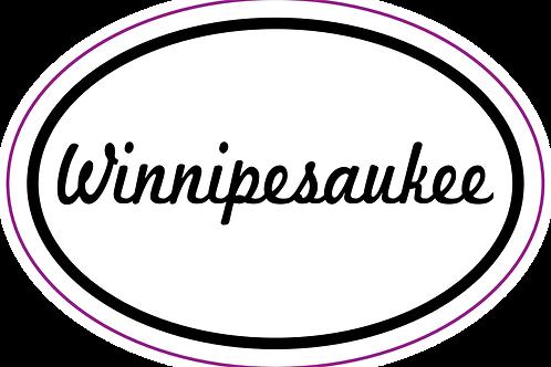 Cursive Winnipesaukee Sticker