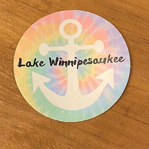 Lake Winnipesaukee Tie Dye Decal