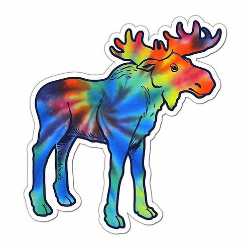 Tie-Dye Moose Sticker