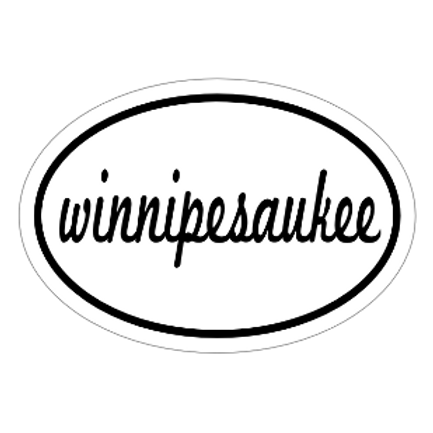 Winnipesaukee Script Sticker