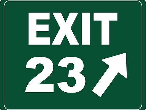 EXIT 23 Sticker