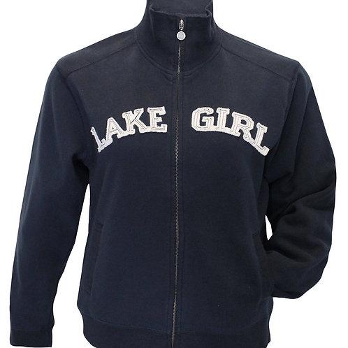 Lakegirl Full Zip Navy Track Jacket Sweatshirt
