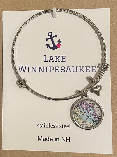 Lake Winnipesaukee Map Bracelet