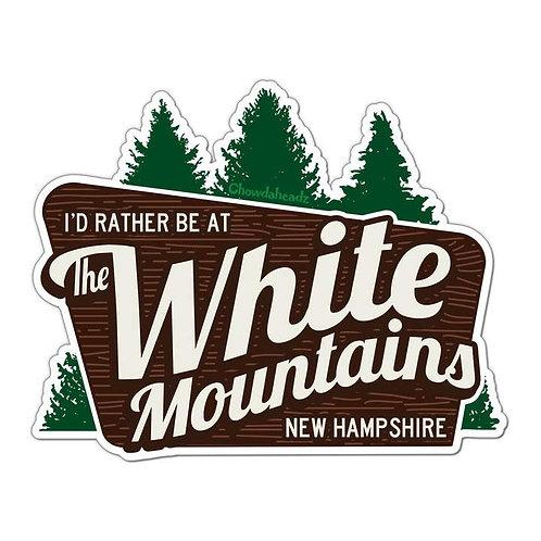 White Mountains, NH Sticker