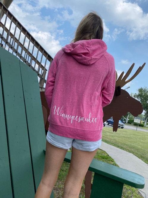 Pink Winnipesaukee Jerzee Full-Zip Sweatshirt