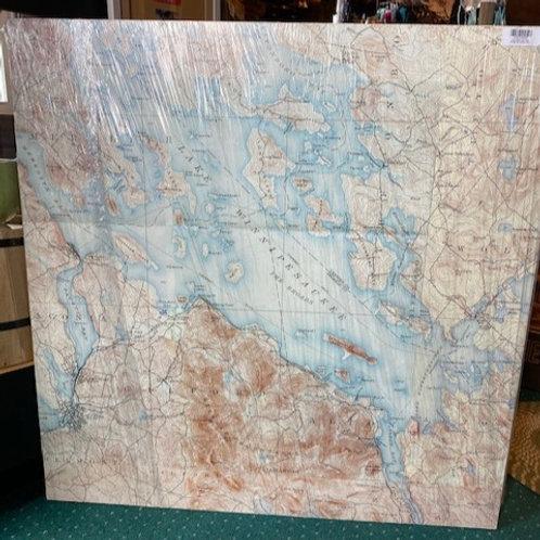 3ft x 3ft Canvas Print of Lake Winnipesaukee