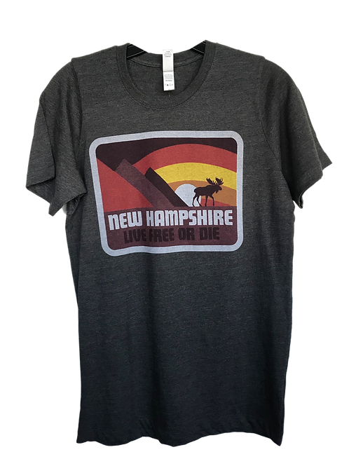 NH Live Free or Die Adult Tee