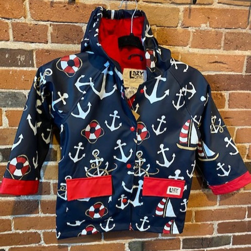 Nautical Toddler Rain Jacket
