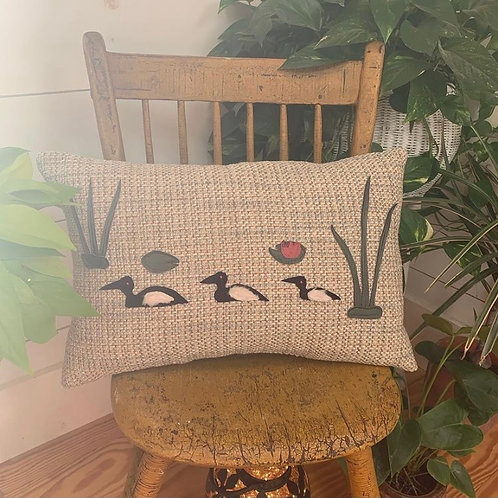 3 Loons Pillow by Nattie