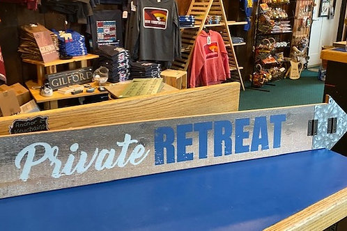 Private Retreat Sign