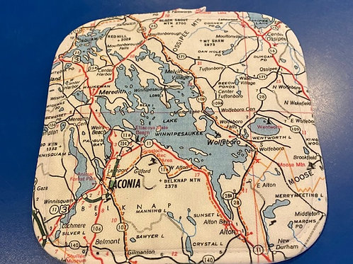 Lake Winnipesaukee Map Pot Holder