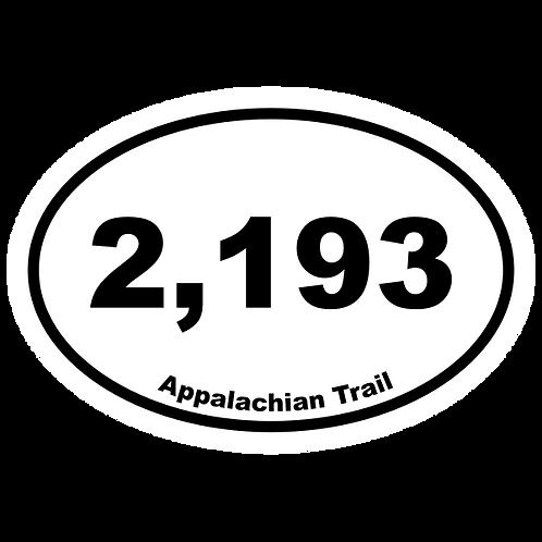 2,193 Appalachian Trail Sticker Decal