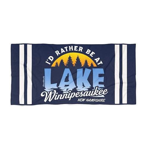 Navy Lake Winnipesaukee Beach Towels