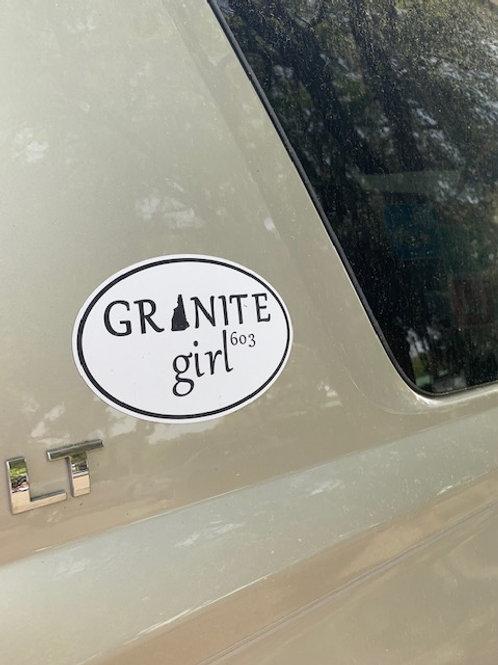 Granite Girl Car Magnet