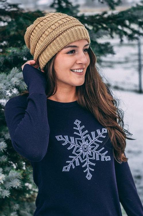 Lakegirl Navy Thermal Snowflake Shirt