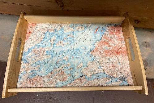 Lake Winnipesaukee MAP serving tray