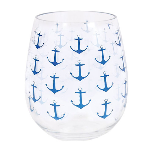 Anchor Acrylic Wine Glasses - Set of 2