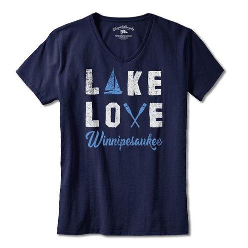 Lake Love Ladies V-Neck Tee