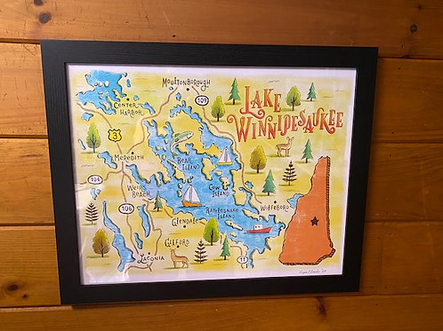 WinniOpoly Framed Map by Ryan O'Rourke