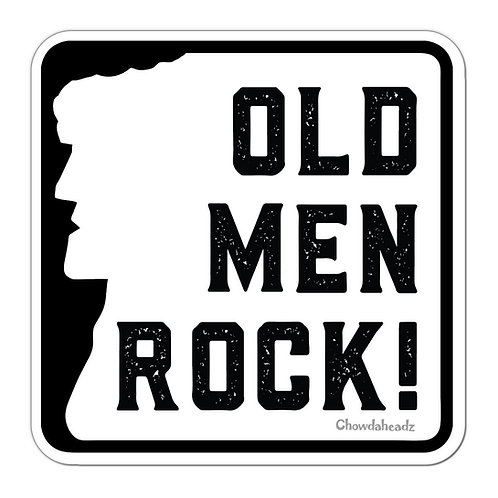 Old Men Rock Sticker